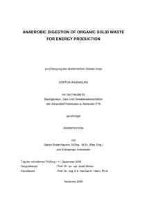 ANAEROBIC DIGESTION OF ORGANIC SOLID WASTE FOR ENERGY PRODUCTION