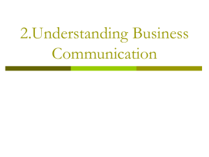 2.Understanding Business Communication