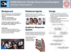 Health Behavior Change Group Counseling Agent Background Relational Agents Design