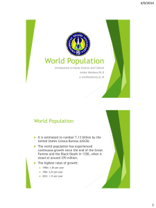 World Population 4/9/2014