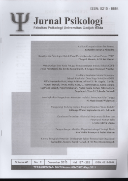 Jurnal Psikologi - 8884 ISSN: 0215