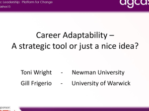 Career Adaptability – A strategic tool or just a nice idea?