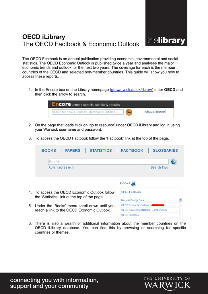 OECD iLibrary The OECD Factbook & Economic Outlook