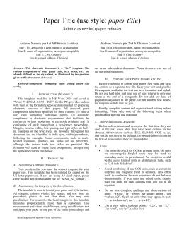 paper title paper subtitle (Author)