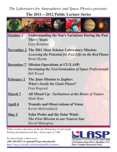 The Laboratory for Atmospheric and Space Physics presents: