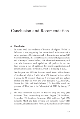 Conclusion and Recomendation A. Conclusion