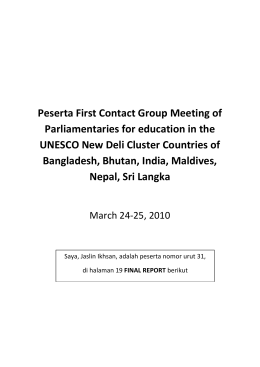 Peserta First Contact Group Meeting of Parliamentaries for education in the