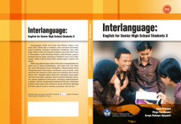 Interlanguage: English for Senior High School Students X