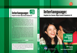 Interlanguage: English for Senior High School Students XI