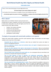 World Mental Health Day 2015: Dignity and Mental Health Information sheet