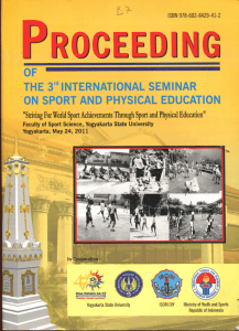 PR0CEEDI^3G OF THE 3^'INTERNATIONAL SEMINAR ON SPORT AND PHYSICAL EDUCATION