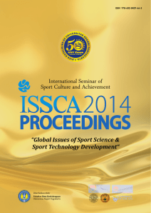 International Seminar of Sport Culture and Achievement Sport Technology Development""