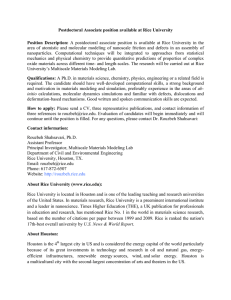 Postdoctoral Associate position available at Rice University  Position  Description: