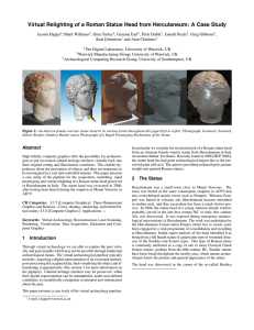 Virtual Relighting of a Roman Statue Head from Herculaneum: A...