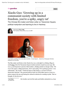 Xiaolu Guo: 'Growing up in a communist society with limited...