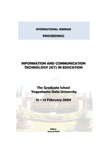 INFORMATION AND COMMUNICATION TECHNOLOGY (ICT) IN EDUCATION  The Graduate School