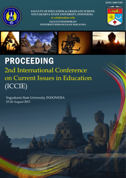 (ICCIE) 2nd International Conference on Current Issues in Education 25-26 August 2015