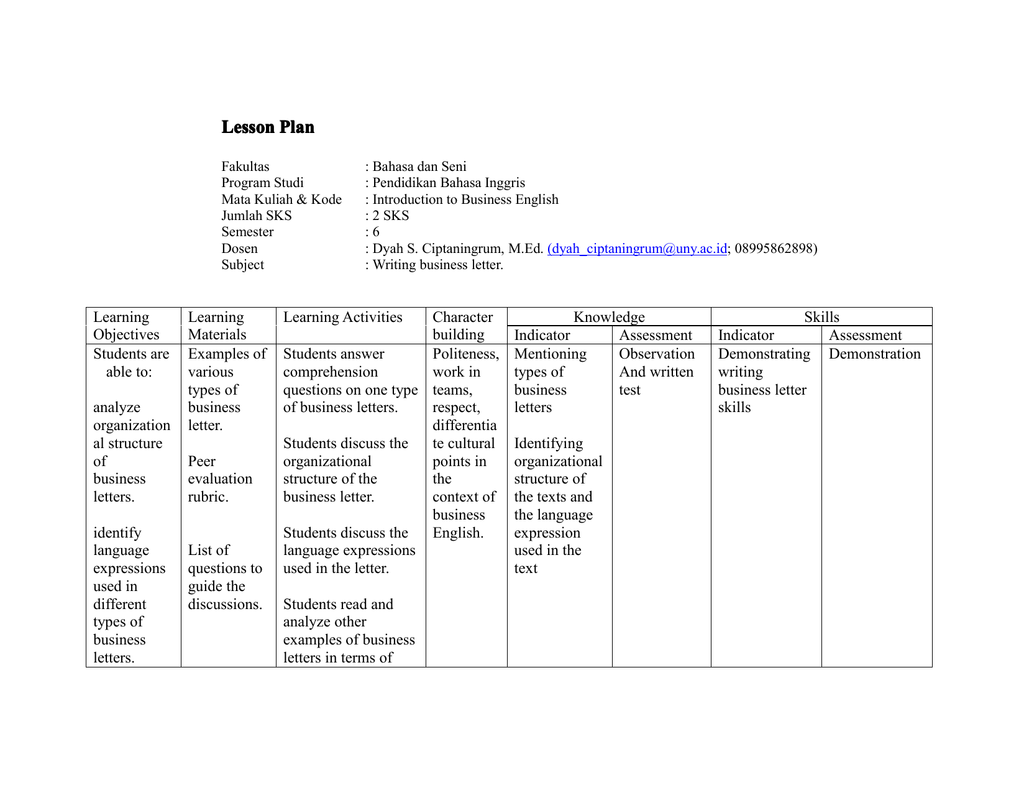 Structure Of Business Letter from s2.studylib.net