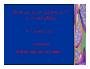 Theories and Schools of Linguistics 4 ti