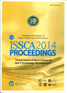 "ISSCA20 PROCEEDINGS •5( ""Global Issues of Sport Science &"