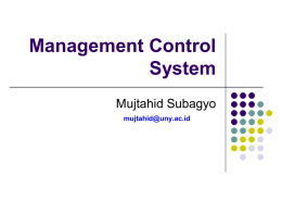 Management Control System Mujtahid Subagyo