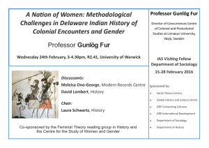 A Nation of Women: Methodological Challenges in Delaware Indian History of