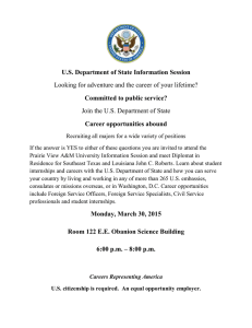 U.S. Department of State Information Session Committed to public service?