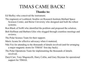 TIMAS CAME BACK! Thanks to: