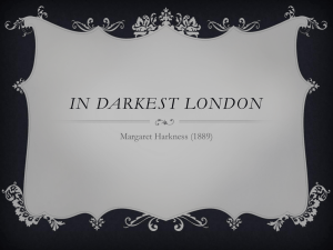 IN DARKEST LONDON Margaret Harkness (1889)
