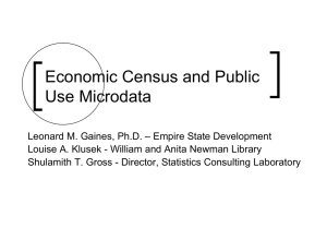 Economic Census and Public Use Microdata