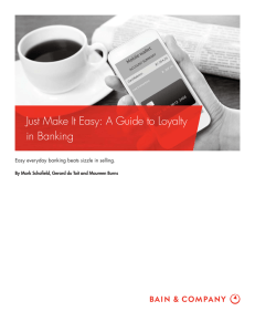 Just Make It Easy: A Guide to Loyalty in Banking