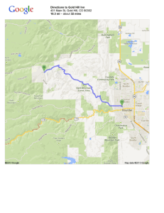Directions to Gold Hill Inn 10.3 mi