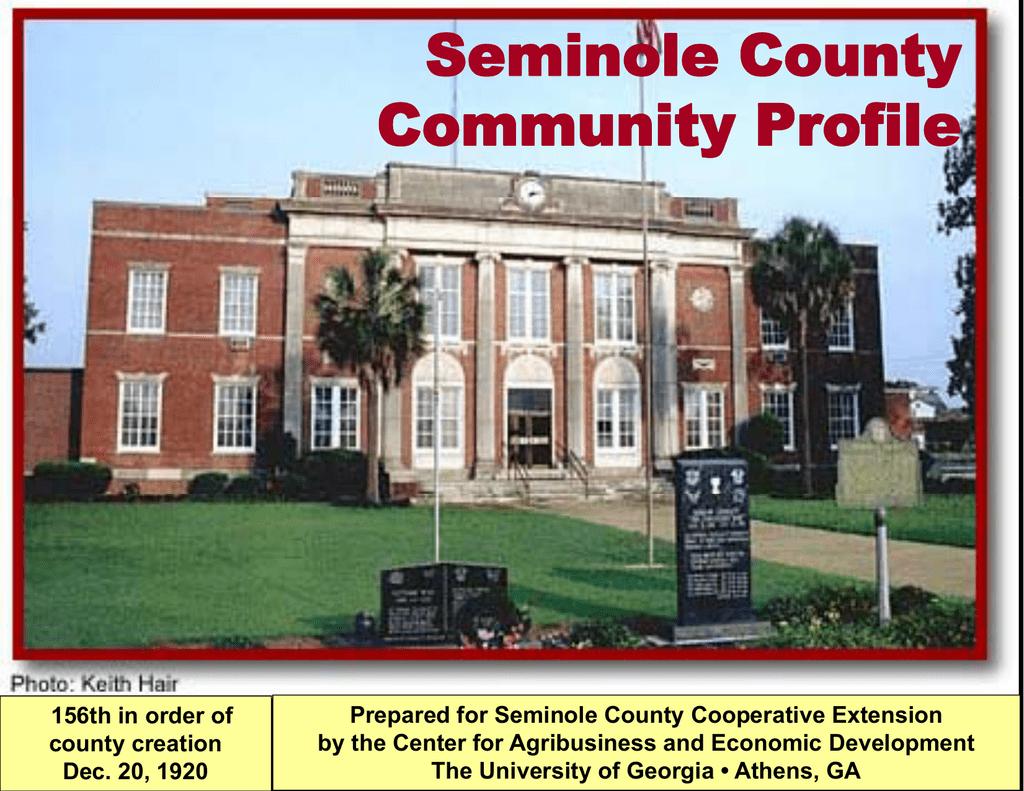 Seminole County Community Profile