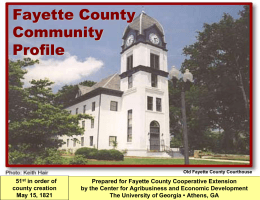 Fayette County Community Profile