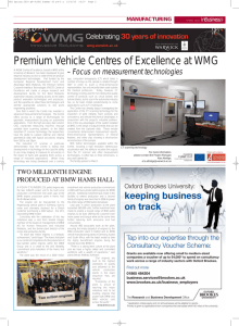 Premium Vehicle Centres of Excellence at WMG inBusiness