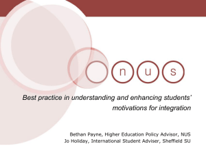 Best practice in understanding and enhancing students' motivations for integration