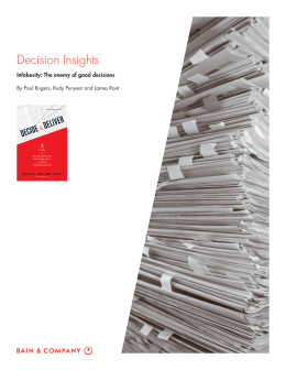 Decision Insights Infobesity: The enemy of good decisions
