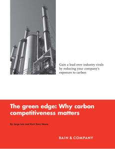 The green edge: Why carbon competitiveness matters by reducing your company's