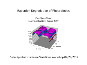 Radiation Degradation of Photodiodes  Solar Spectral Irradiance Variations Workshop 02/29/2012 Ping-Shine Shaw