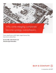 Why some merging companies become synergy overachievers
