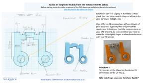 Make an Earphone Buddy from the measurements below
