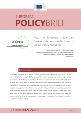 POLICY EUROPEAN How  the  European  Union  Can