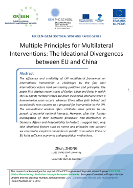 Multiple Principles for Multilateral Interventions: The Ideational Divergences between EU and China