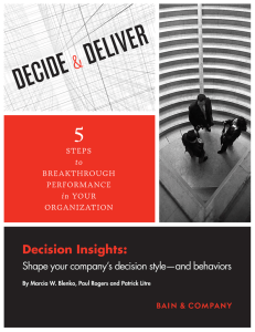 Decision Insights: Shape your company's decision style—and behaviors
