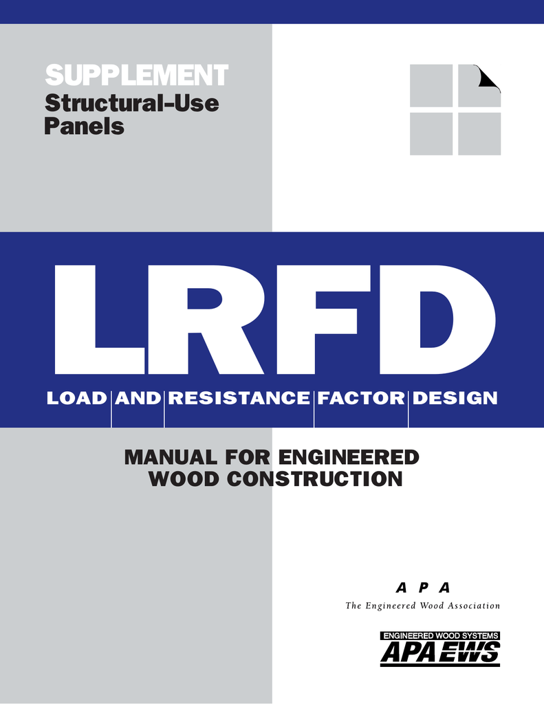 LRFD SUPPLEMENT Structural-Use Panels