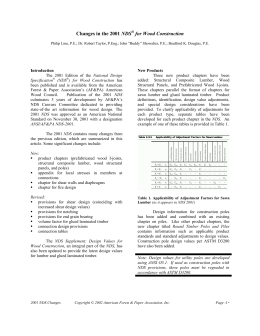 Std103 2001 National Design Specification Nds For Wood