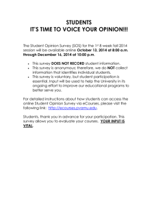 STUDENTS IT'S TIME TO VOICE YOUR OPINION!!!
