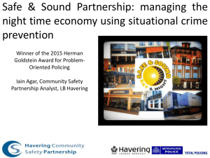 Safe & Sound Partnership: managing the prevention