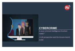 CYBERCRIME Is your criminal intelligence function ready?