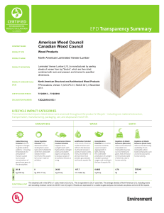 Transparency Summary American Wood Council